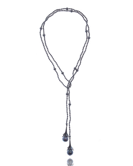 M.C.L. by Matthew Campbell Laurenza Multi-Pearl & Hematite Beaded Necklace