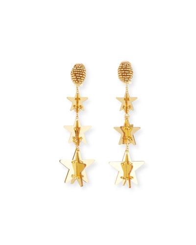 e305a7583846ce Quick Look. Oscar de la Renta · Falling Stars Clip-On Drop Earrings.  Available in Gold