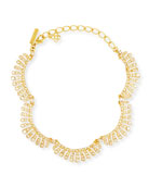 Oscar de la Renta Curved Crystal Choker Necklace