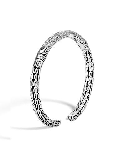 Classic Chain Flex Cuff w/ Diamonds
