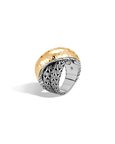 Classic Chain 18k Gold & Silver Crossover Ring