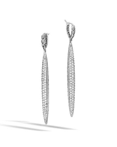 Classic Chain Diamond Dangle Earrings