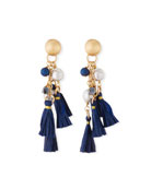 Akola Tassel & Cluster Dangle Earrings