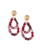 Akola Pink & Plum Beaded Earrings