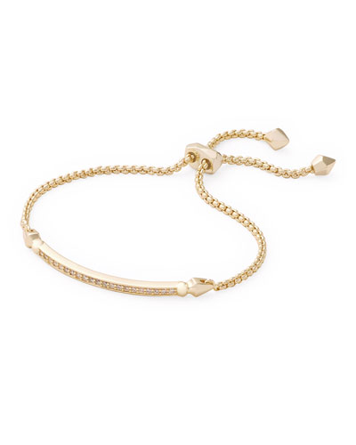 OTT Adjustable Chain Bracelet w/ Cubic Zirconia