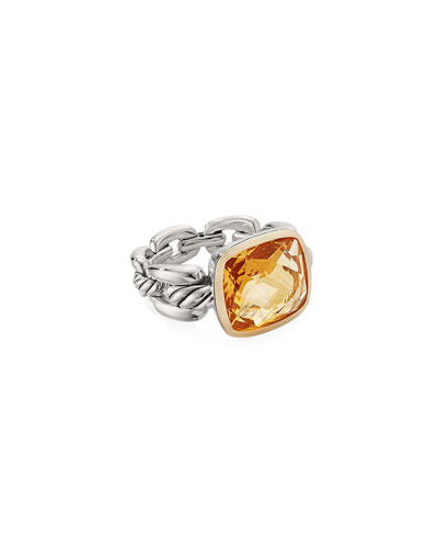 Wellesley Link Citrine Ring