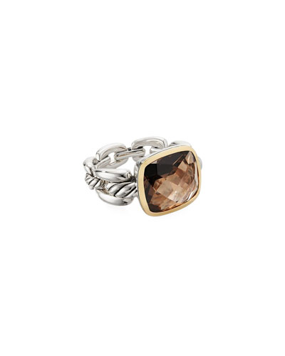 Wellesley Link Smoky Quartz Ring