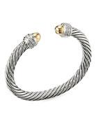 David Yurman Cable Bracelet w/ Diamonds & 14k
