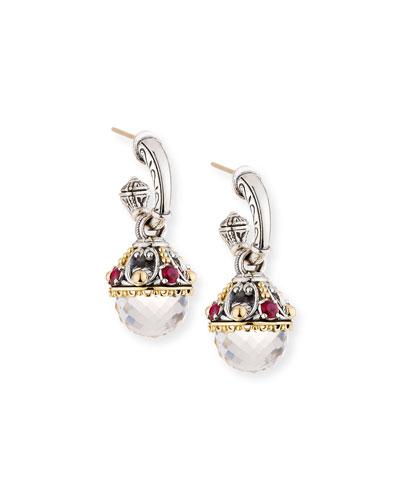 Pythia Corundum & Crystal Drop Earrings