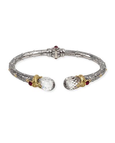 Pythia Crystal Corundum & Garnet Kick Cuff Bracelet