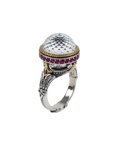 Pythia Crystal & Corundum Ring
