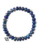 Sydney Evan 14k Lapis Bead & Turquoise Eye