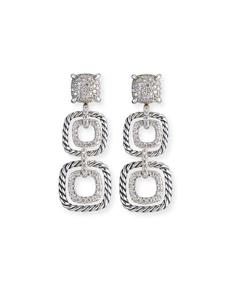 David Yurman Chatelaine Diamond Cable Drop Earrings