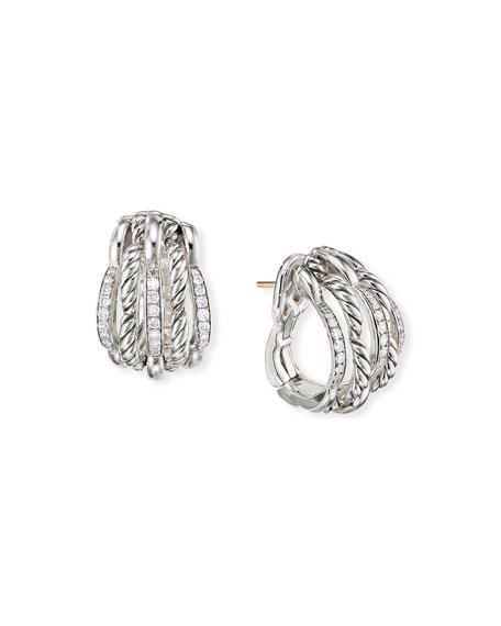 David Yurman Tides Shrimp Earrings with Diamonds