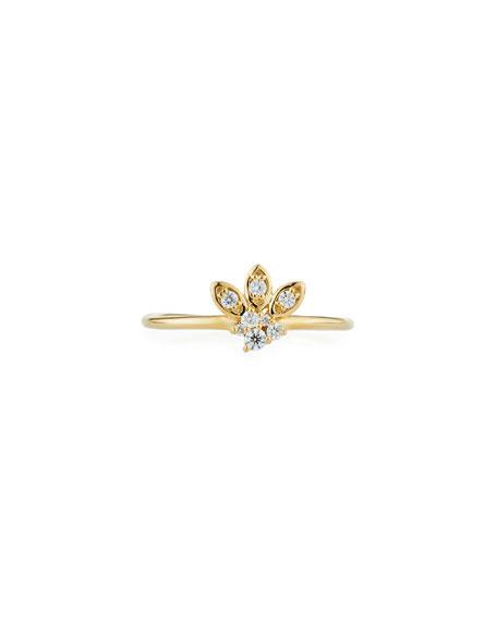 Sydney Evan 14k Gold Diamond Marquise Petal Ring, Size 6.5