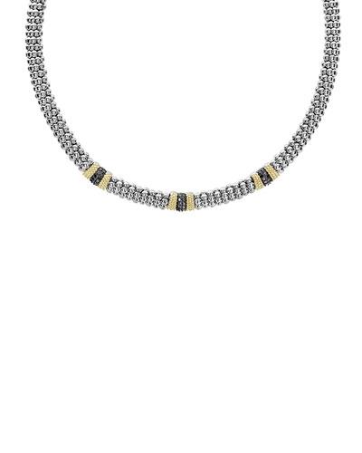 Triple Station Black Diamond Lux Necklace