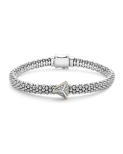 KSL Caviar Rope Bracelet w/ Pyramid