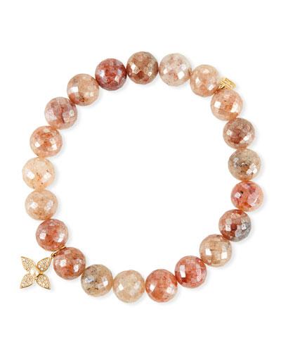 14k Strawberry & Paisley Pearl Bracelet