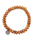 Sydney Evan 14k Tiger Eye Bracelet w/ Small