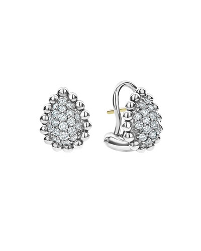 Caviar Spark Diamond Pear Earrings