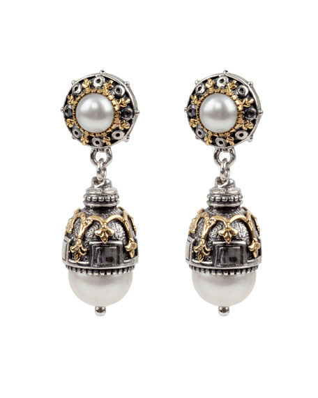 Konstantino Thalia Double-Pearl Drop Earrings