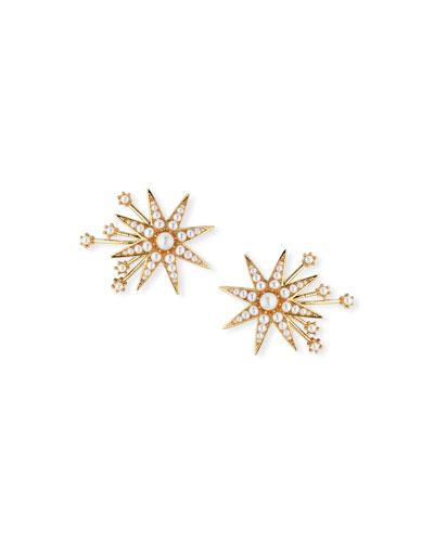 Nova Stud Earrings with Glass Pearls