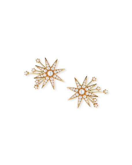 Lulu Frost Nova Stud Earrings with Glass Pearls