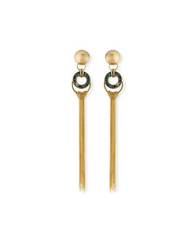 Long Chain Tassel Earrings