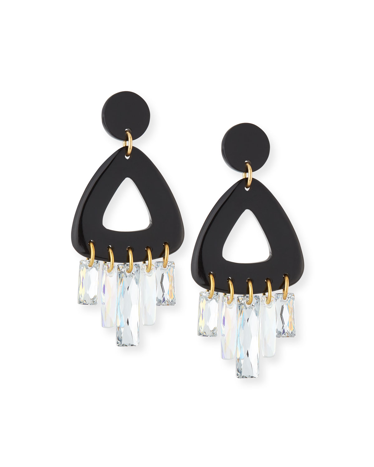 NEST JEWELRY CRYSTAL DROP STATEMENT EARRINGS