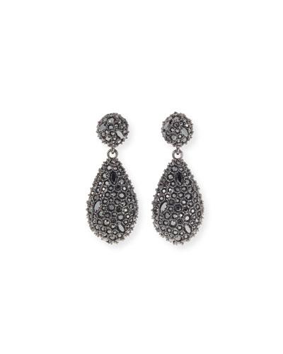 Crystal Encrusted Dangle Post Earrings
