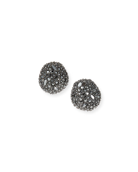 Alexis Bittar Organic Pod-Shaped Crystal Encrusted Button Earrings