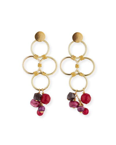 Four-Loop Dangle Earrings