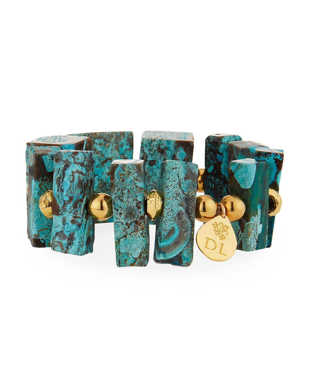 Imperial Jasper Blocks Stretch Bracelet
