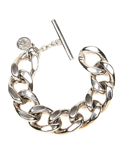 Chain-Link Bracelet, Silvertone