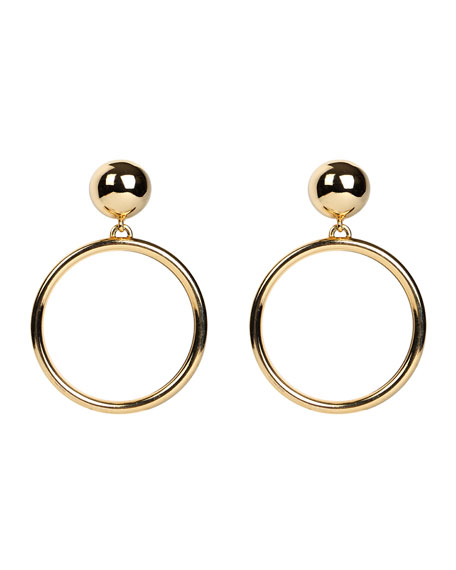Ben-Amun Hoop Drop Clip-On Earrings