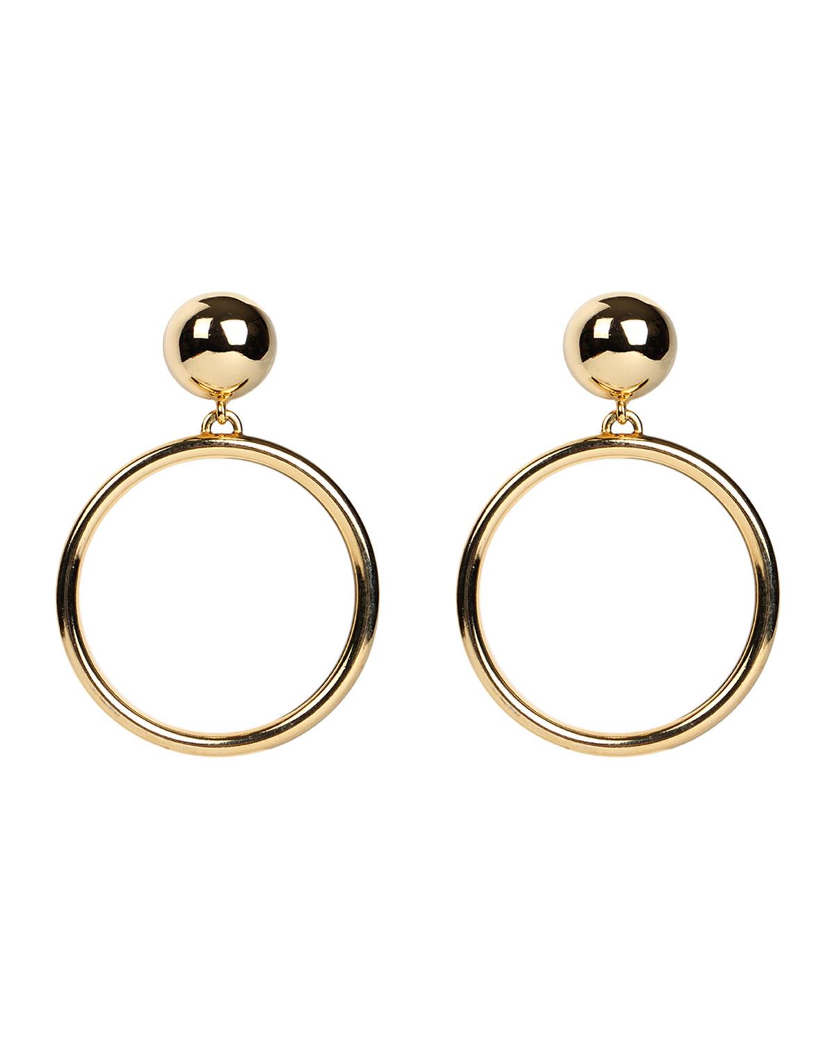 Hoop Drop Clip-On Earrings