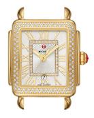 MICHELE 18k Gold Deco Madison Mid Diamond Watch