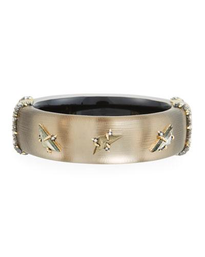 Triple Stone Stud Hinge Bracelet