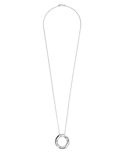Classic Long Fold-Over Pendant Necklace
