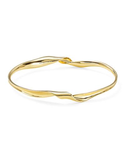 18k Gold Classico Twisted Ribbon Bracelet