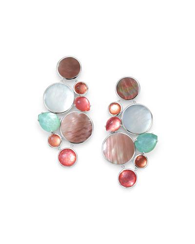 Wonderland Multi-Stone Chandelier Earrings in Moroccan Dust
