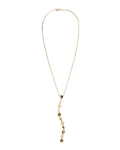 Legacy 14k Gold Disc Y-Drop Necklace