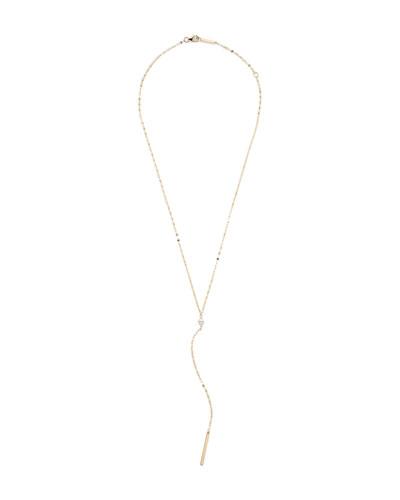 14k Gold Marquise Diamond Y-Drop Necklace