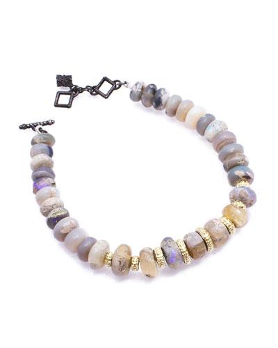Old World Boulder Opal Beaded Bracelet