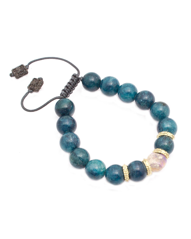 Old World Apatite & Opal Bead Pull-Through Bracelet