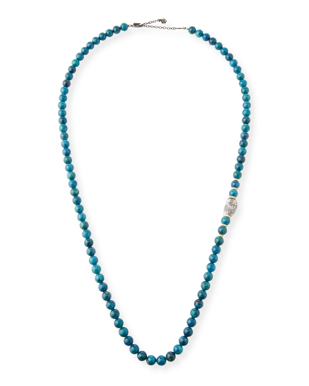 Old World Apatite & Boulder Opal Bead Necklace