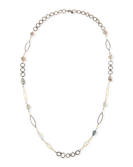 "Armenta Old World Boulder Opal & Diamond Crivelli Necklace, 40"""
