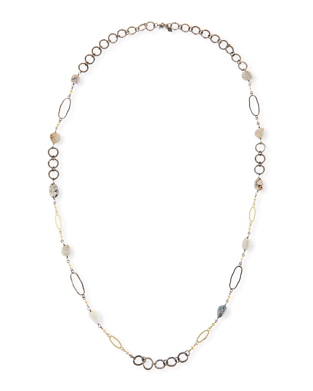 Old World Boulder Opal & Diamond Crivelli Necklace