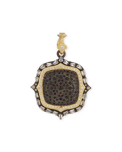 Old World Two-Tone Diamond & Black Sapphire Pendant Enhancer