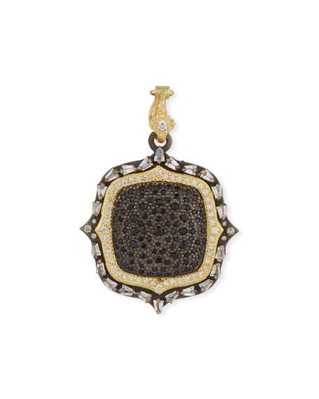 Armenta Old World Two-Tone Diamond & Black Sapphire Pendant Enhancer